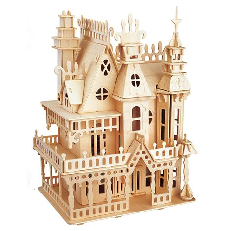 Diy-Furniture-Models-Jigsaw-Puzzle-Dollhouse-Woodcraft-Construction-Kit