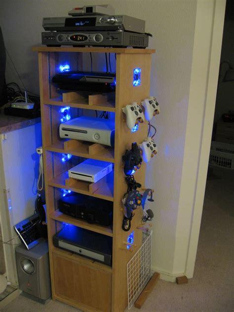 Diy-Game-System-Shelf