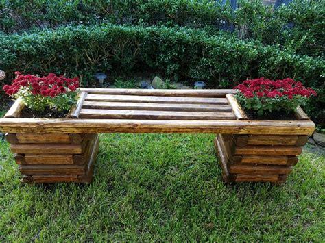 Diy-Garden-Bench-With-Planters
