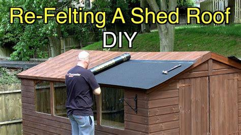 Diy-Garden-Shed-Felt-Roof