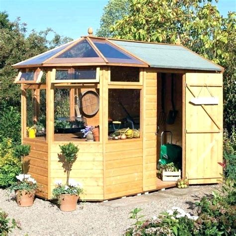 Diy-Garden-Wood-Shed-Combinations