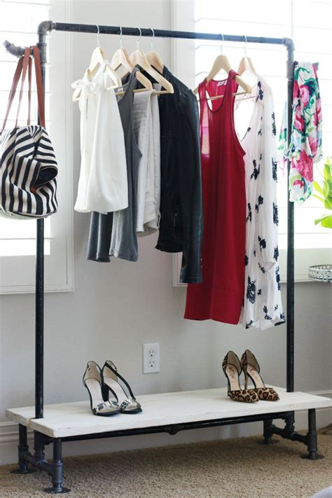 Diy-Garment-Rack-With-Shelves