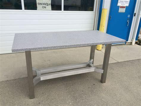 Diy-Granite-Table-Steel-Base