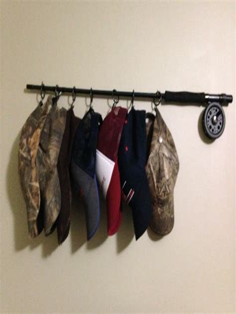Diy-Hat-Rack-Fishing-Pole