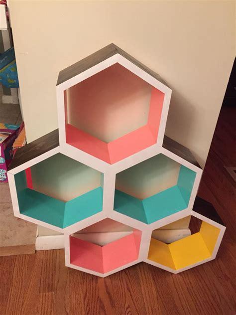 Diy-Hexagon-Shelf-Template