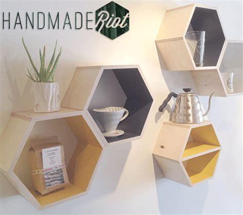 Diy-Hexagon-Wall-Shelves