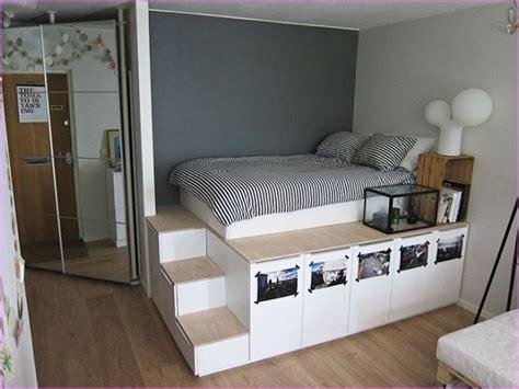 Diy-High-Platform-Bed-With-Storage