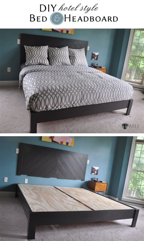 Diy-Hotel-Style-Bed-Frame-And-Headboard