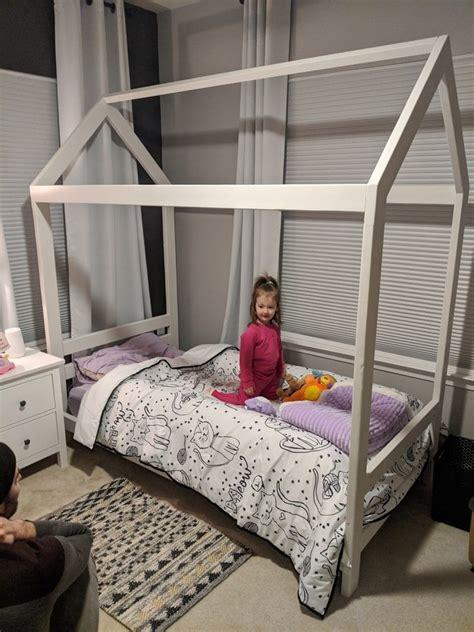 Diy-House-Bed-Frame