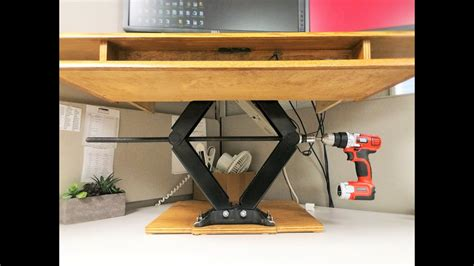 Diy-Hydraulic-Adjustable-Standing-Desk