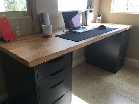 Diy-Ikea-Computer-Desk-Countertop