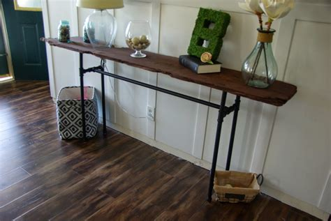 Diy-Industrial-Console-Table