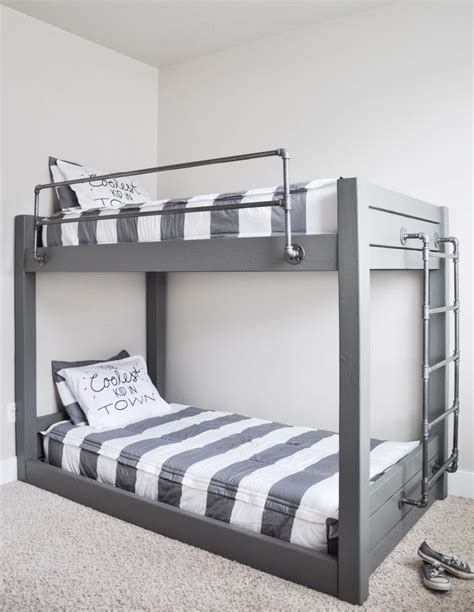 Diy-Industrial-Loft-Bed