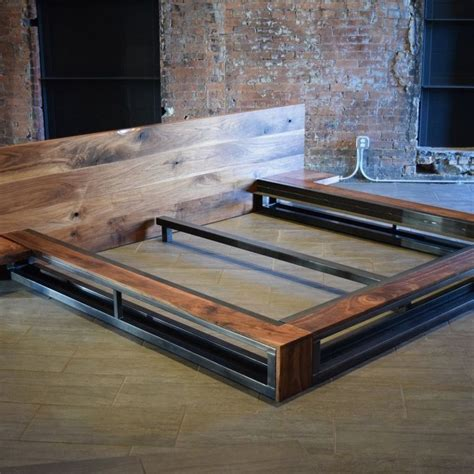 Diy-Industrial-Style-Bed-Frame