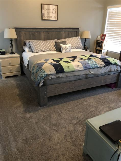 Diy-King-Bed-Frame-And-Headboard