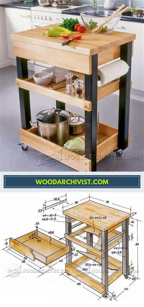 Diy-Kitchen-Cart-Table-Plans