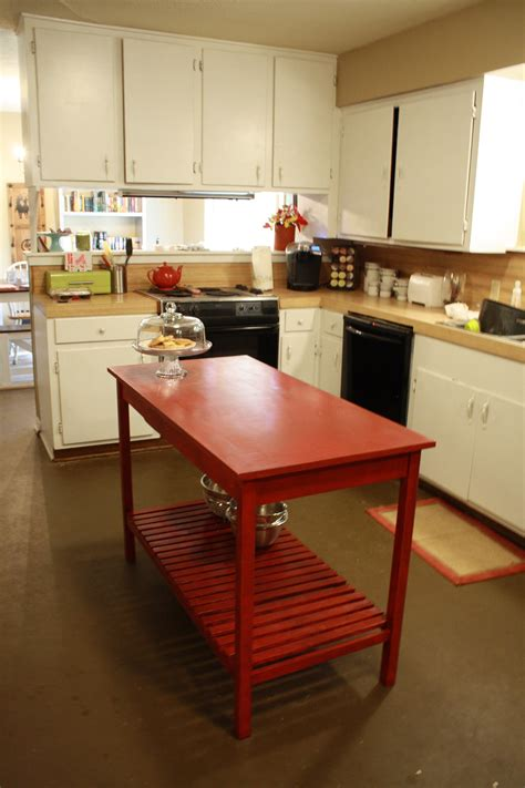 Diy-Kitchen-Island-From-Coffee-Table-Wood