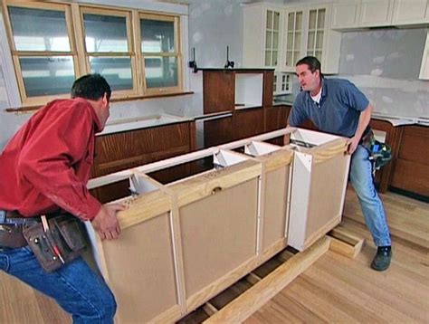 Diy-Kitchen-Island-Installation