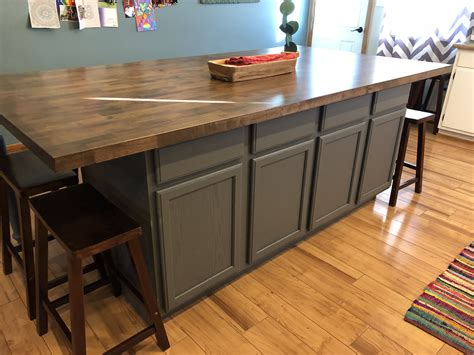 Diy-Kitchen-Island-Made-From-Cabinets