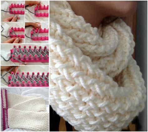 Diy-Knit-Infinity-Scarf