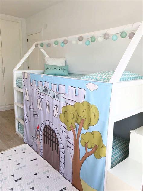 Diy-Kura-Loft-Bed-Curtain-Playhouse