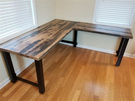 Diy-L-Shaped-Computer-Desk-Reclaimed-Wood