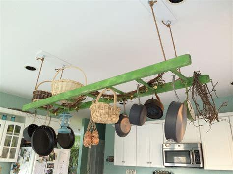 Diy-Ladder-Hanging-Pot-Rack