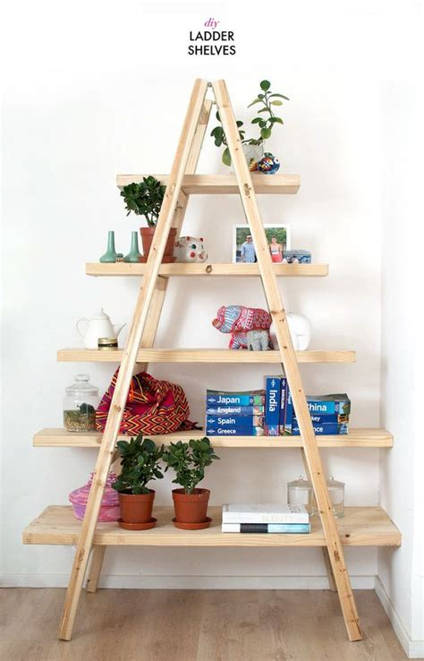 Diy-Ladder-Shelf