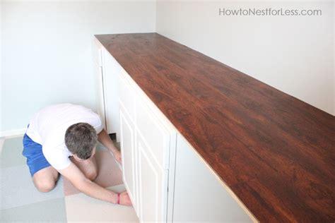 Diy-Laminate-Flooring-Desk