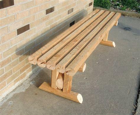 Diy-Landscape-Timber-Bench
