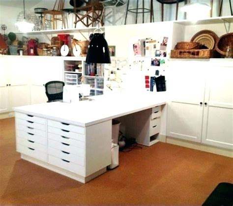 Diy-Large-Craft-Table-With-Storage