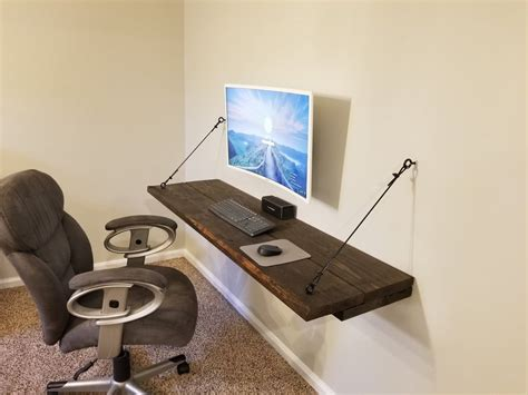 Diy-Large-Floating-Desk