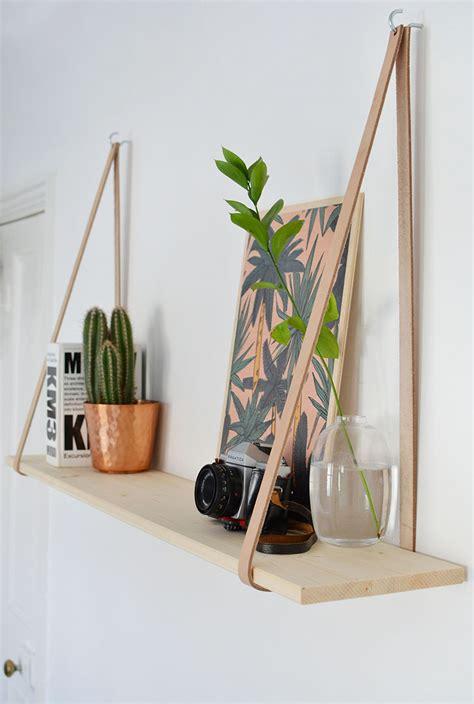 Diy-Leather-Strap-Shelves