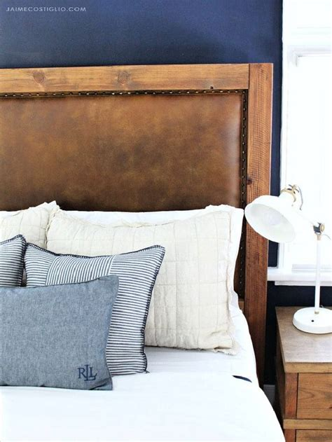 Diy-Leather-Upholstered-Headboard