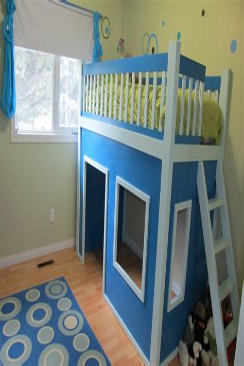 Diy-Loft-Bed-Curtain-Playhouse