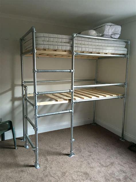 Diy-Loft-Bed-From-Scaffolding