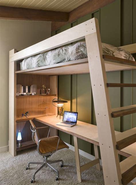 Diy-Loft-Bed-With-Bookshelf