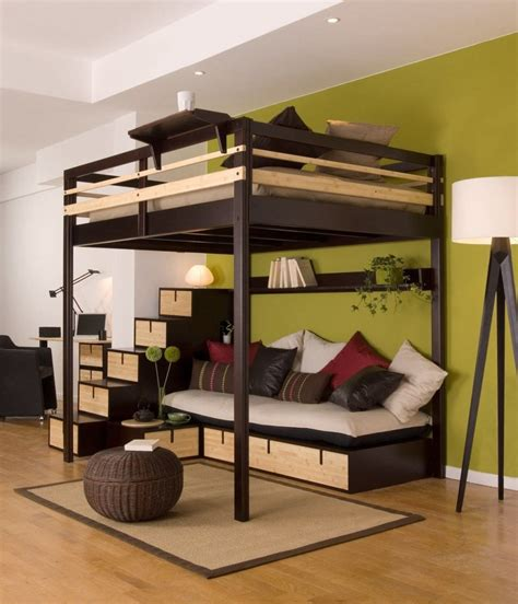 Diy-Loft-Bed-With-Cabinets