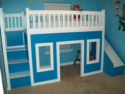 Diy-Loft-Bed-With-Stairs-And-Slide