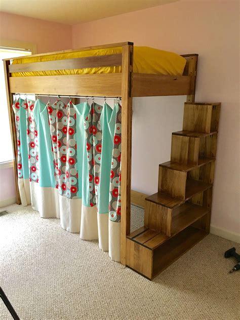 Diy-Loft-Bed-With-Steps