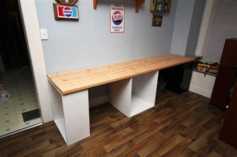 Diy-Long-Wood-Desk