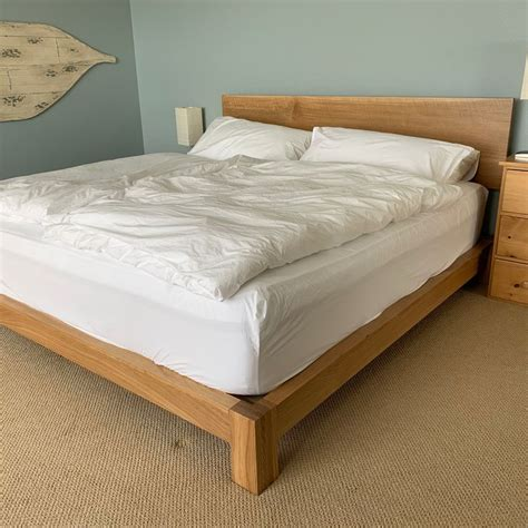 Diy-Low-Full-Bed-Frame-With-Headboard