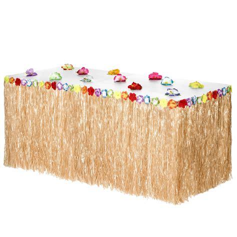 Diy-Luau-Grass-Table-Skirt