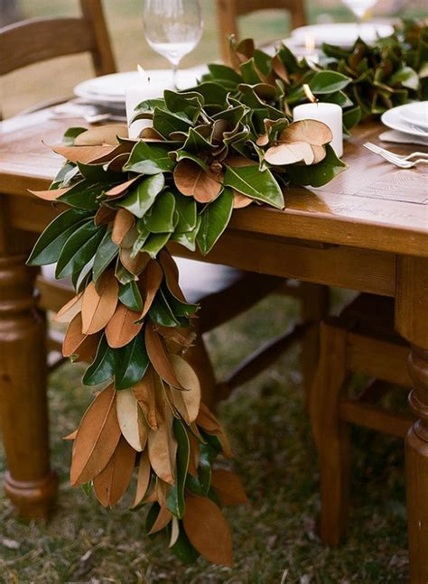 Diy-Magnolia-Leaf-Table-Runner
