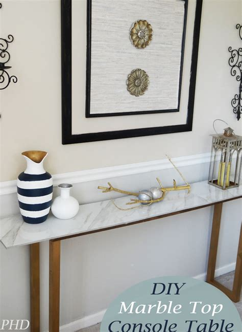 Diy-Marble-Console-Table