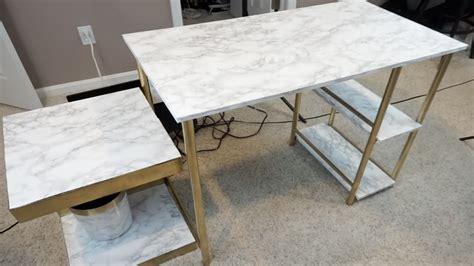 Diy-Marble-Desk