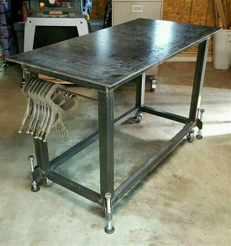 Diy-Metal-Work-Table