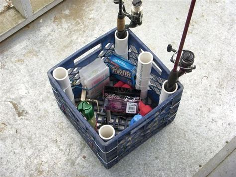 Diy-Milk-Crate-Fishing-Rod-Holder