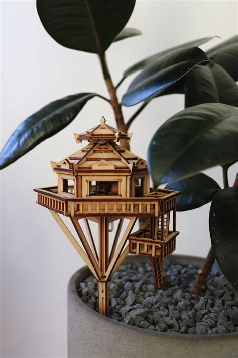 Diy-Miniature-Treehouse