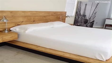 Diy-Modern-Plywood-Platform-Bed